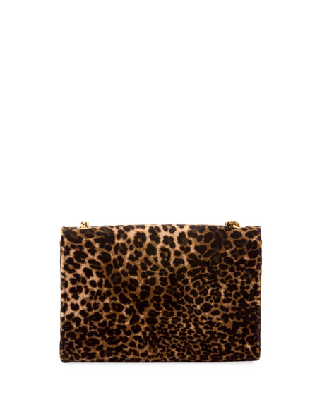Kate Monogram Small Leopard-Print Velvet Crossbody Bag