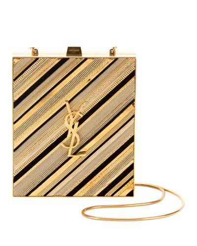 Tuxedo Monogram Chain-Detail Box Minaudiere Clutch Bag