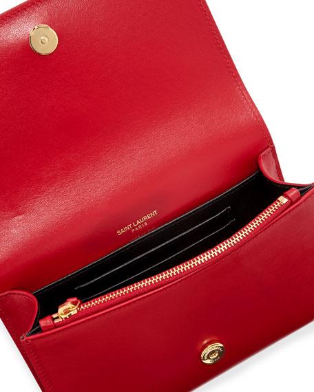 77a9a34ec11 Saint Laurent Kate Monogram YSL Leather Belt Bag