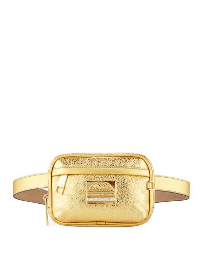 Sport Metallic Leather Belt Bag/Fanny Pack