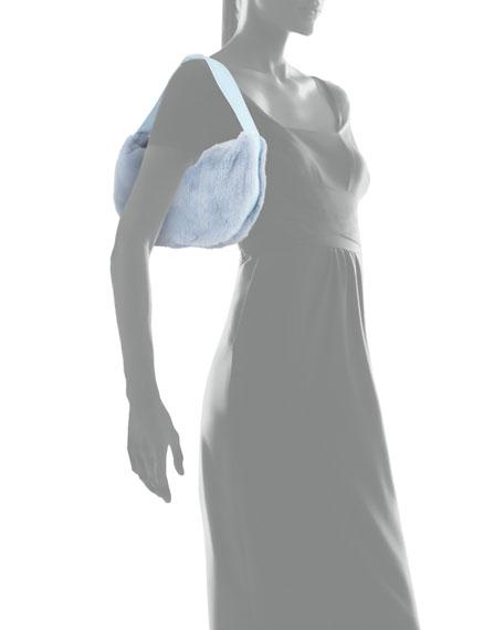 Betty Mink Shoulder Bag, Light Blue