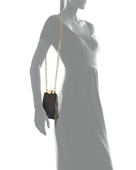 Chain-Fringe Framed Bag