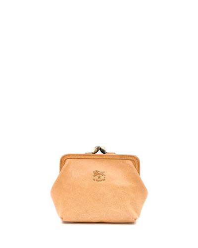 Soft Cowhide Coin Purse Bag
