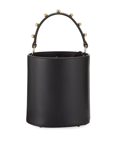Olivia Mini Two-Tone Bucket Bag