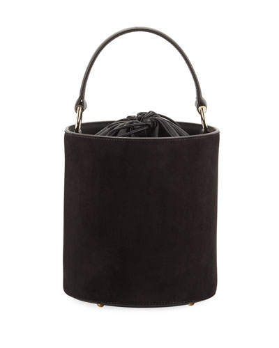 Olivia Mini Suede Leather Bucket Bag