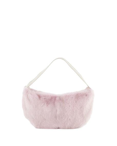 Saks Potts Betty Mink Shoulder Bag, Pink