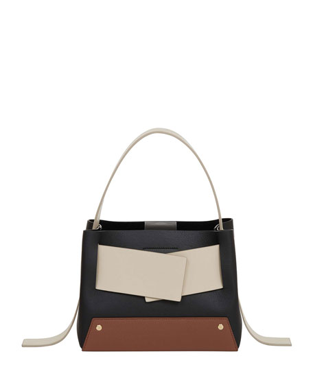 Biggy Colorblock Leather Top-Handle Shoulder Bag