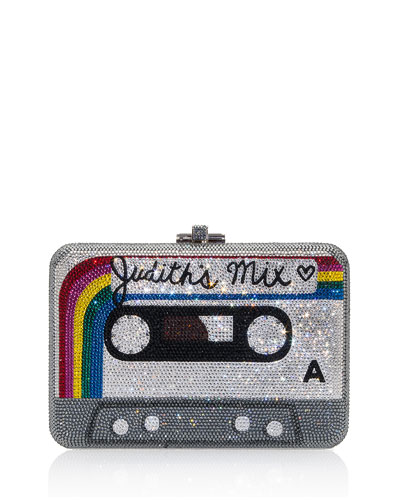 Rainbow Mix Tape Slim Slide-Lock Clutch Bag