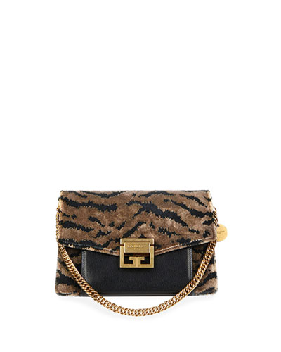 GV3 Small Leopard Velvet Shoulder Bag