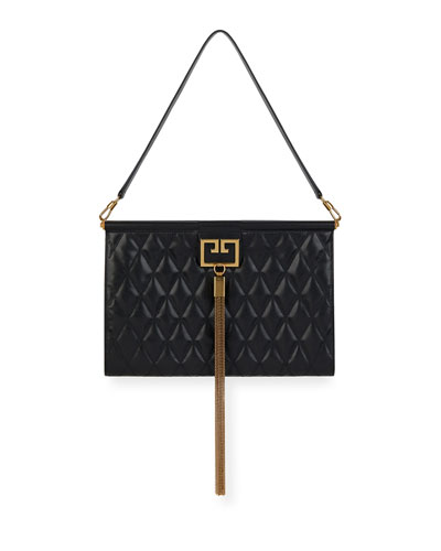 Gem Large Quilted Leather Shoulder Bag