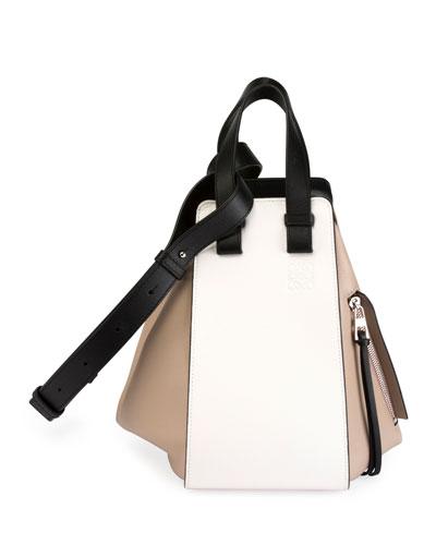 Hammock Small Colorblock Leather Satchel Bag