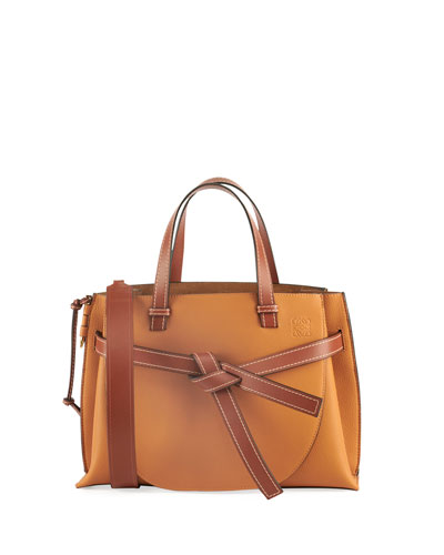 Gate Small Leather Top-Handle Tote Bag