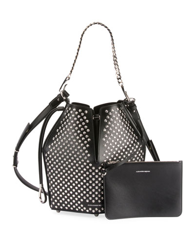 The Bucket Studded Shoulder Bag