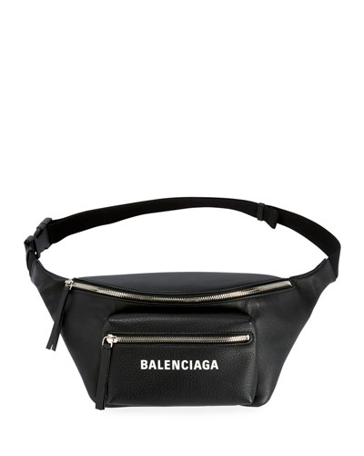 Everyday Large Leather Belt Bag with Logo/Fanny Pack
