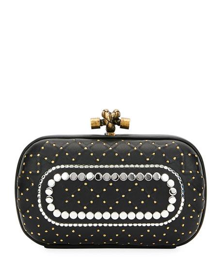 Bottega Veneta Studded Knot Box Clutch Bag