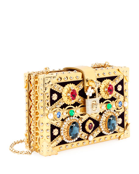 Jeweled Framed Box Clutch Bag