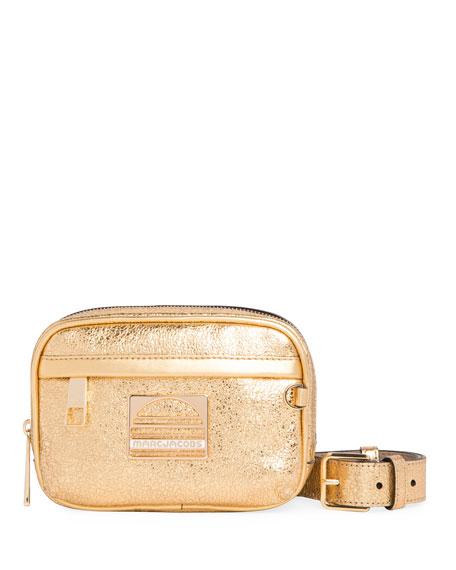 Sport Metallic Leather Belt Bag/Fanny Pack, Gold