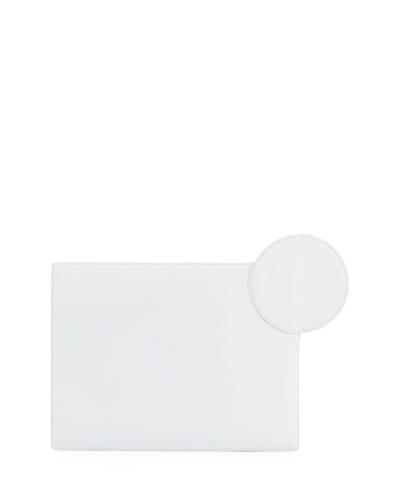 Aplin Flat Leather Clutch Bag