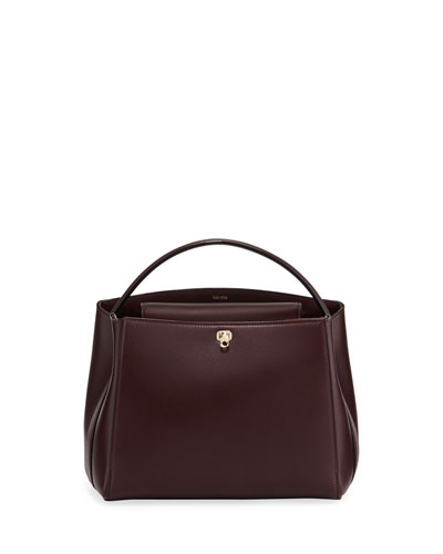 Glossy Leather Brera Top Handle Bag