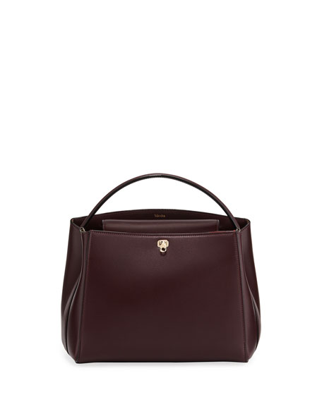 Valextra GLOSSY LEATHER BRERA TOP HANDLE BAG