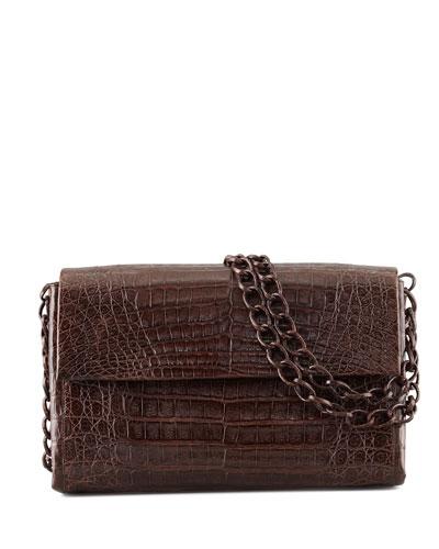 Soft Double-Chain Medium Shoulder Bag