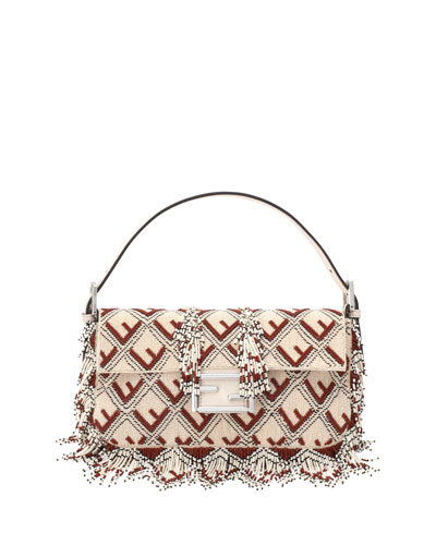 Baguette FF Beaded Shoulder Bag
