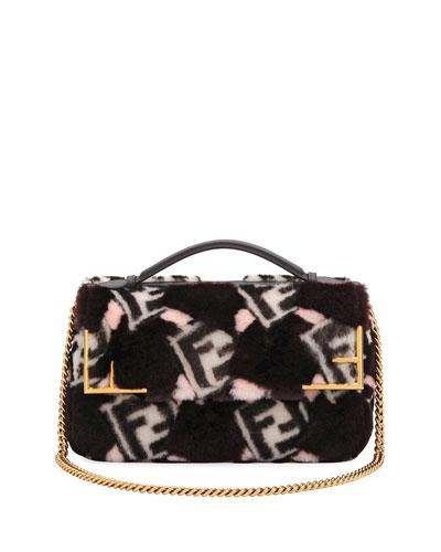 Shearling 1974 FF Top Handle Bag