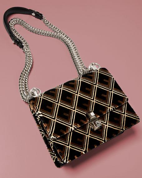 344877b8ff Fendi Kan I Mini Velvet Tappetino Shoulder Bag