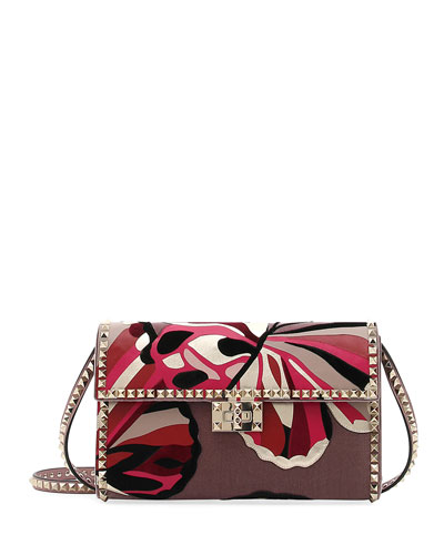 Rockstud No Limit Shoulder Bag - Velvet Butterflies
