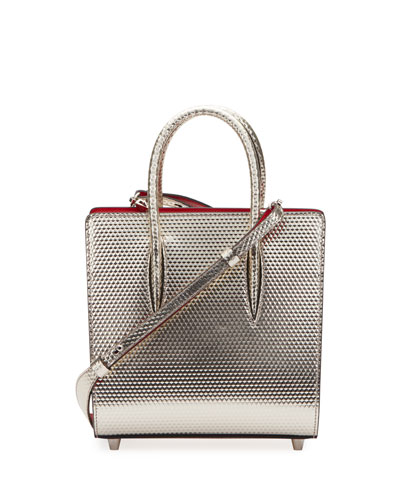 Paloma Small Cubiste Metallic Leather Tote Bag
