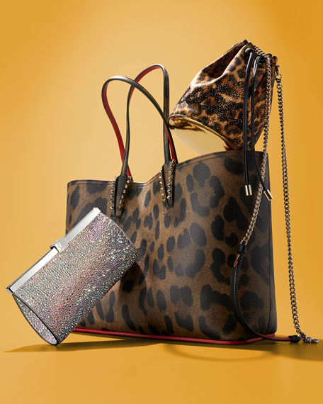 64a0a35b94fe Christian Louboutin Cabata Empire Leopard-Print Leather Tote Bag