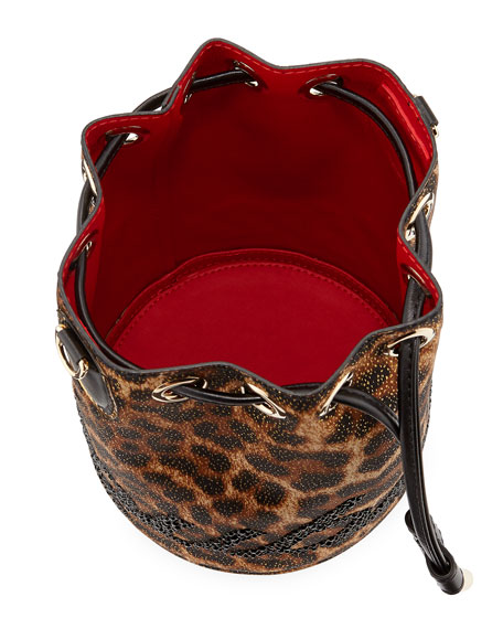 5df6cfd8f718 Christian Louboutin Marie Jane Leopard-Print Bucket Bag
