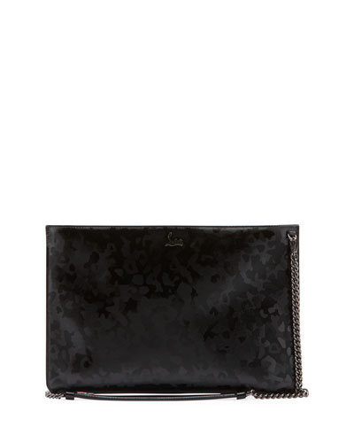 Loubi Patent Panthera Clutch Bag
