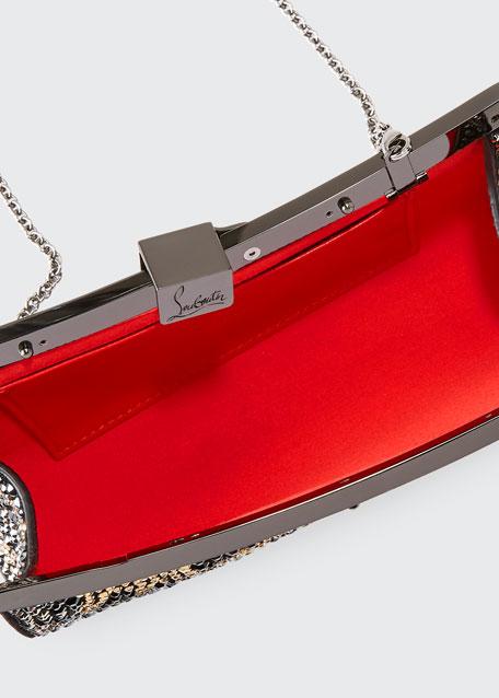Palmette Crystal Small Clutch Bag