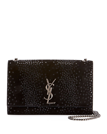 KATE MONOGRAM YSL MEDIUM STAR SUEDE CHAIN CROSSBODY BAG