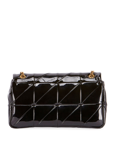 Saint Laurent Jamie Monogram Medium Diamond-Quilted Patent Chain Shoulder  Bag 0075c7e7e2c90