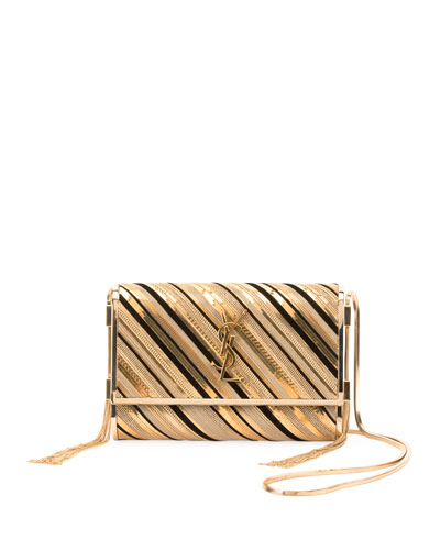 Kate Monogram YSL Small Suede Tassel-Side Chain Inlay Crossbody Bag