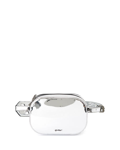 Off-White Mirror Leather Camera Bag