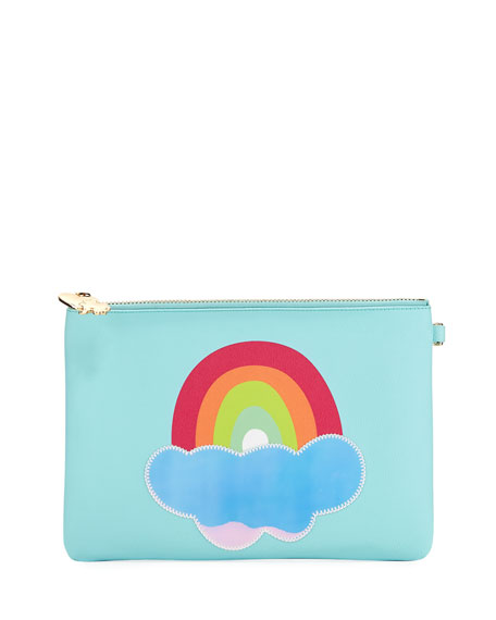 Small Rainbow Flat Pouch in Multi