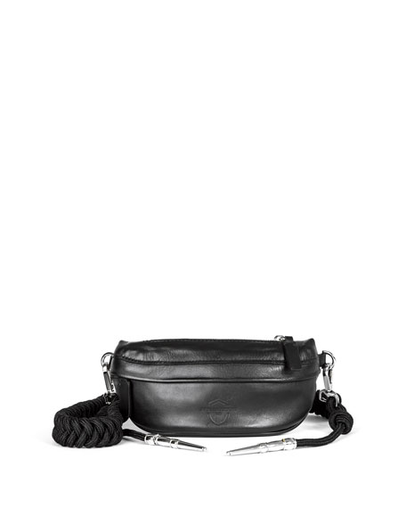 LEATHER AIGUILETTE BELT BAG