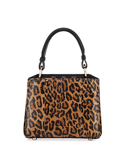 Seven 20 Leopard-Print Snakeskin Top-Handle Bag