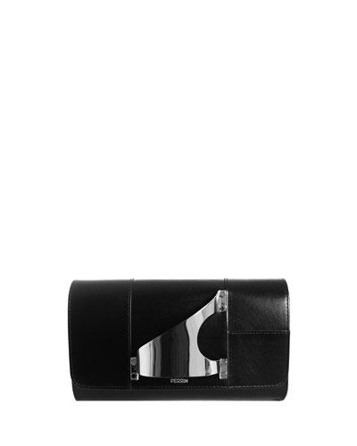 L'Eiffel Leather Clutch Bag