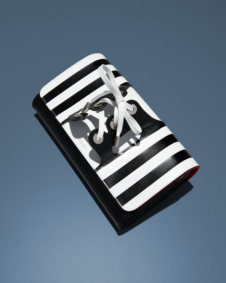 Le Corset Striped Clutch Bag