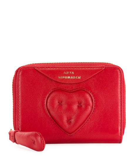 Anya Hindmarch Small Chubby Heart Zip-Around Wallet