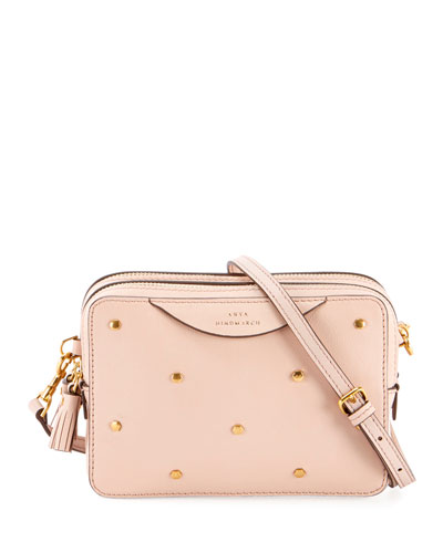 Double Studded Crossbody Wallet, Pink