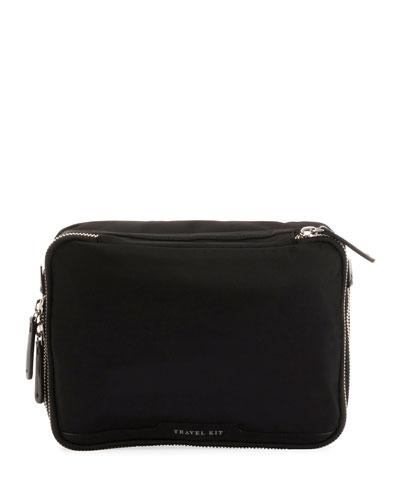 Nylon Zip Travel Cosmetic Bag