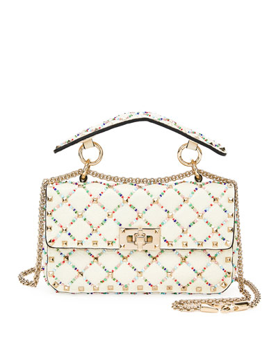 Spike.It Small Quilted Leather  Shoulder Bag