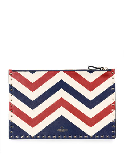 Rockstud Americana Leather Clutch Bag
