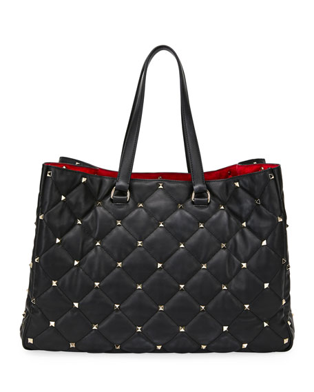 Boomstud Butterfly Leather/Snakeskin Tote Bag