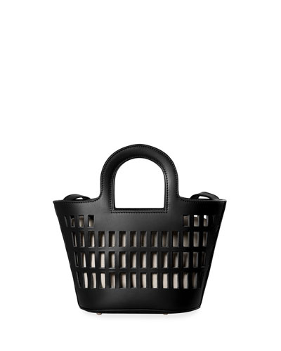 Comado Extra-Small Cutout Leather Tote Bag